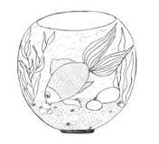 эскиз аквариума Стоковая Фотография RF