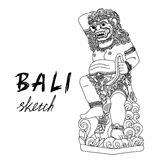 Эскиз Бали Barong - балийский бог Традиционная культура Стоковое Изображение