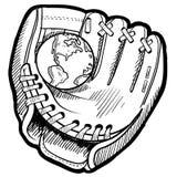 Эскиз бейсбола мира Стоковые Фотографии RF
