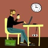 Эскиз вектора бизнесмена для знамени вебсайта иллюстрации газеты иллюстрация штока