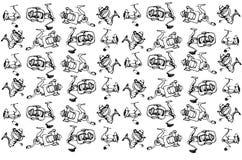 Эскиз вектора вьюрков рыбной ловли быстрой реакции Стоковая Фотография