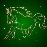 Эскиз вектора идущей лошади бесплатная иллюстрация