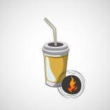 Эскиз вектора стекел картона с питьем Стоковое Фото