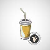 Эскиз вектора стекел картона с питьем Стоковые Фото