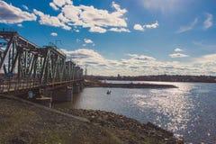 Эскиз весеннего дня в моем городке стоковое фото rf