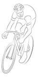 Эскиз велосипедиста Стоковые Изображения RF