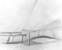 Эскиз двухуровневого хайвея. Стоковые Фотографии RF