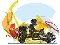 эскиз гонки kart Стоковое Изображение