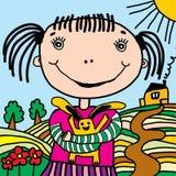 эскиз девушки иллюстрация штока