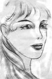 Эскиз девушки Стоковое фото RF
