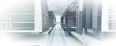 Эскиз делового центра проекта. Стоковые Фотографии RF