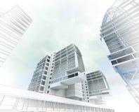 Эскиз делового центра. Стоковое Фото