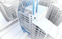 Эскиз делового центра. Стоковые Фото