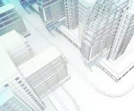 Эскиз делового центра. Стоковая Фотография RF