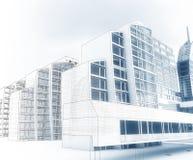 Эскиз делового центра. Стоковые Фотографии RF