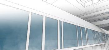 Эскиз делового центра. Стоковая Фотография