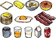 эскиз завтрака Стоковые Изображения