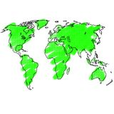 Эскиз земли рукописный Стоковые Фотографии RF