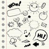 эскиз икон doodle Стоковая Фотография RF