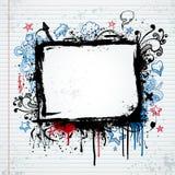 эскиз иллюстрации grunge рамки Стоковое фото RF