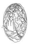 Эскиз искусства fairy дамы в зиме иллюстрация штока