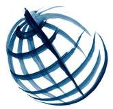 Эскиз иллюстрации глобуса Стоковая Фотография