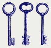 Эскиз ключей Стоковое Изображение RF