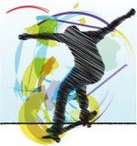 эскиз конькобежца Стоковые Фото