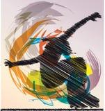 эскиз конькобежца Стоковые Изображения RF