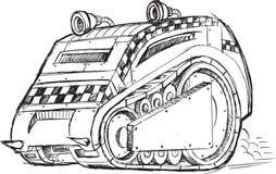 Эскиз корабля броневой машины Стоковое Изображение