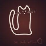 Эскиз, кот, значок, шоколад Стоковые Изображения RF