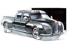 Эскиз крутой приемистости SUV для мероприятий на свежем воздухе Иллюстрация штока