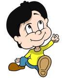 эскиз мальчика сидя Стоковая Фотография RF