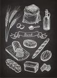 Эскиз мела хлебов бесплатная иллюстрация