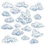 Эскиз неба с белыми облаками Атмосфера, рай иллюстрация штока