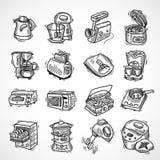 Эскиз оборудования кухни Стоковое Фото