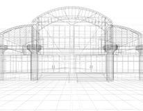 эскиз офиса здания Стоковые Фотографии RF