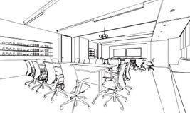 Эскиз офиса Стоковые Изображения RF
