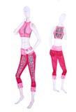 Эскиз одежд для йоги, женских диаграмм Стоковое фото RF