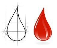 эскиз падения крови бесплатная иллюстрация
