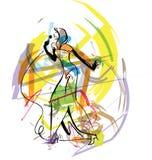 эскиз певицы иллюстрации Стоковые Изображения RF
