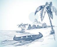 эскиз пляжа Стоковые Изображения RF