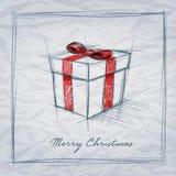 Эскиз подарочной коробки Стоковая Фотография RF