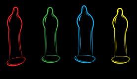 эскиз презерватива иллюстрация вектора