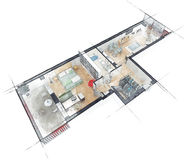 Эскиз плана здания Стоковое Изображение RF