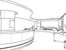 Эскиз плана интерьера Стоковая Фотография