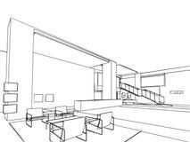 Эскиз плана интерьера Стоковое фото RF