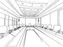 Эскиз плана интерьера Стоковое Изображение