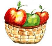 Эскиз плетеной корзины бесплатная иллюстрация