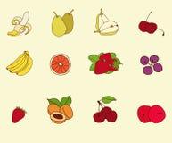 Эскиз плодоовощ установленный Стоковое Изображение